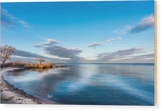 Chesapeake Bay Sky Wood Print