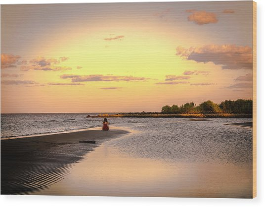 Chesapeake Bay Sunset Wood Print