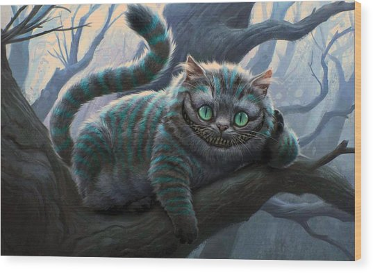 Cheshire Cat Wood Print
