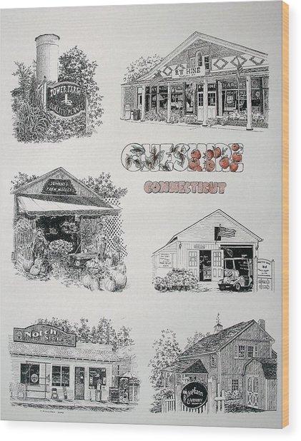 Cheshire Landmarks Wood Print