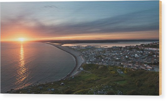 Chesil Beach Sunset  Wood Print by Ollie Taylor