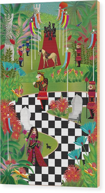 Chess Festival - Limited Edition 2 Of 20 Wood Print