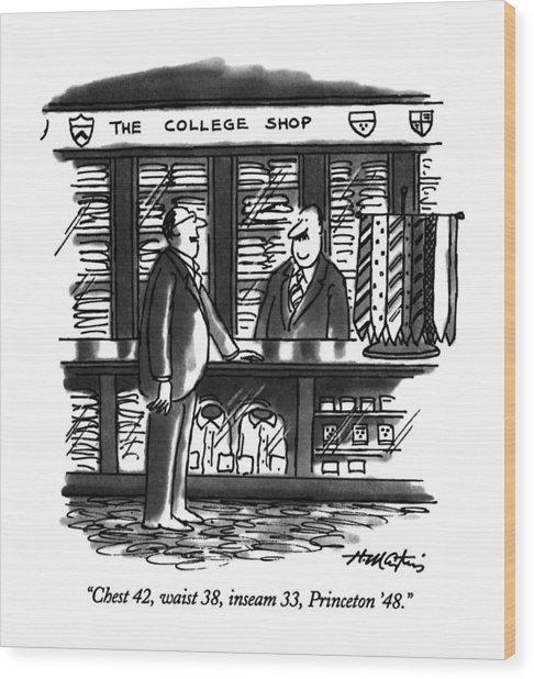 Chest 42, Waist 38, Inseam 33, Princeton '48 Wood Print