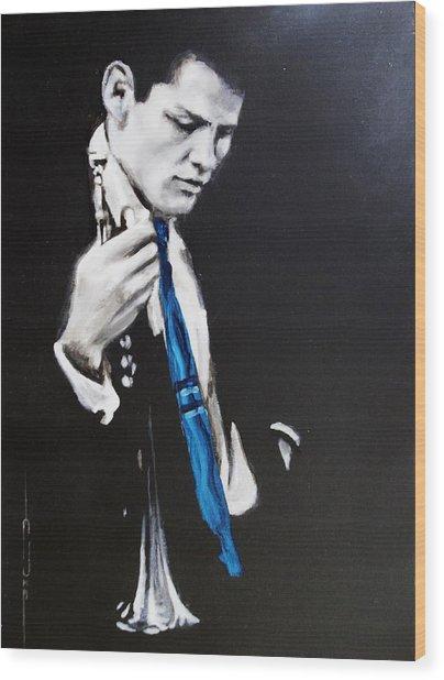 Chet Baker - Almost Blue Wood Print