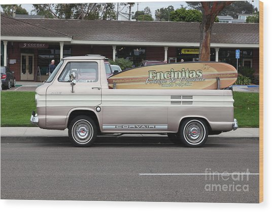 Chevrolet Corvair 95 Open Top Van 5d24225 Wood Print by Wingsdomain Art and Photography