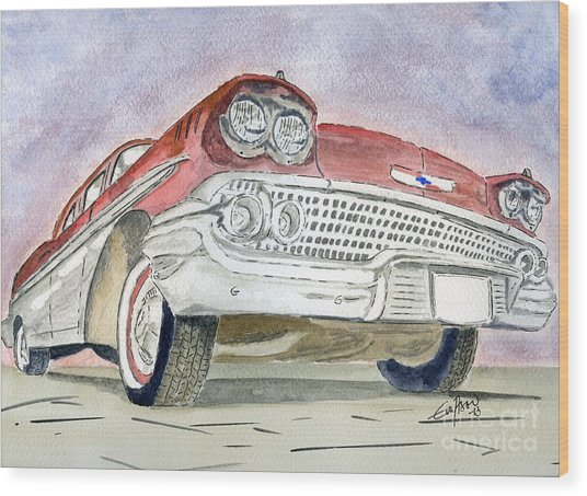Chevrolet II Wood Print