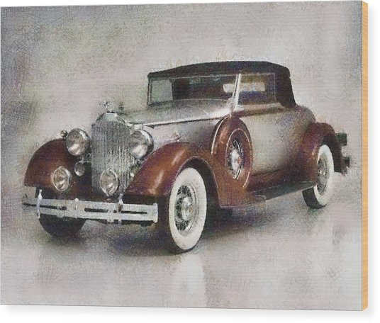 Chevrolet Master Sport Coupe Wood Print