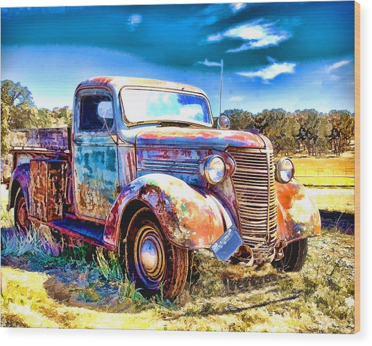 Chevrolet Pickup Truck Wood Print