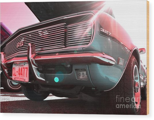 Chevrolet Red Green  Wood Print by LLaura Burge