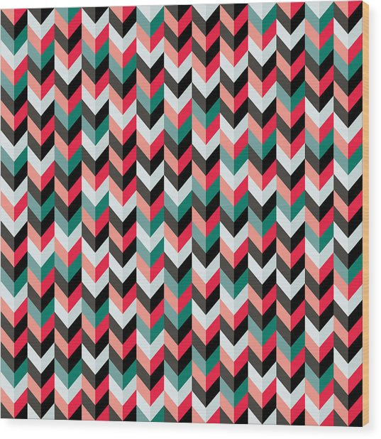 Chevron Wood Print