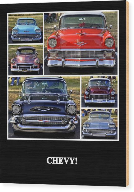 Chevy Wood Print
