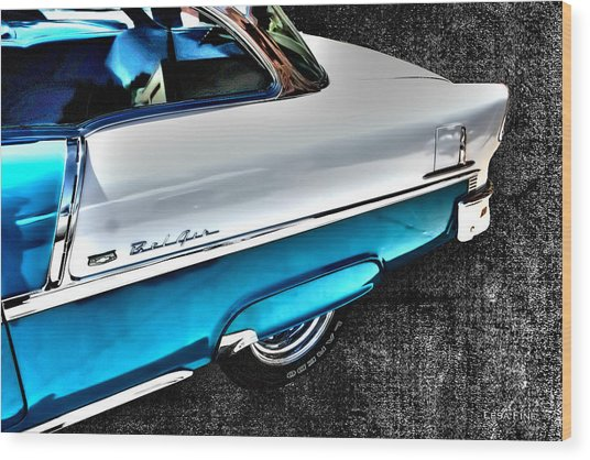 Chevy Bel Air Art 2 Tone Side View Art 1 Wood Print