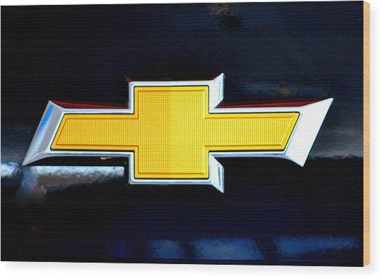 Chevy Bowtie Camaro Black Yellow Iphone Case Mancave Wood Print