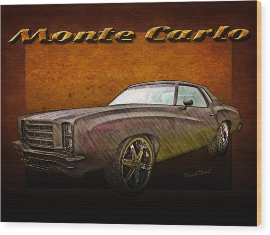Chevy Monte Carlo Poster Wood Print
