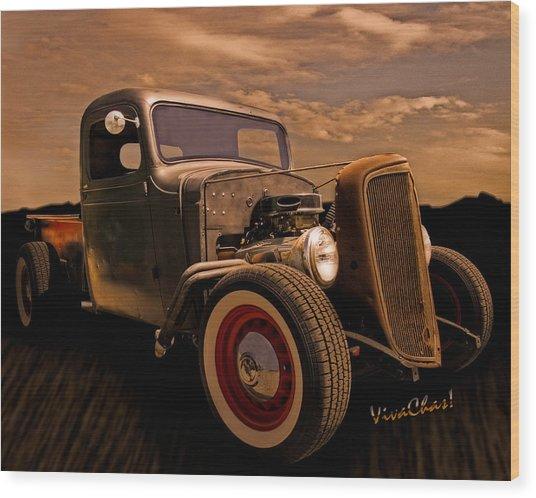 Chevy Rat Rod Pickup 1936 Wood Print