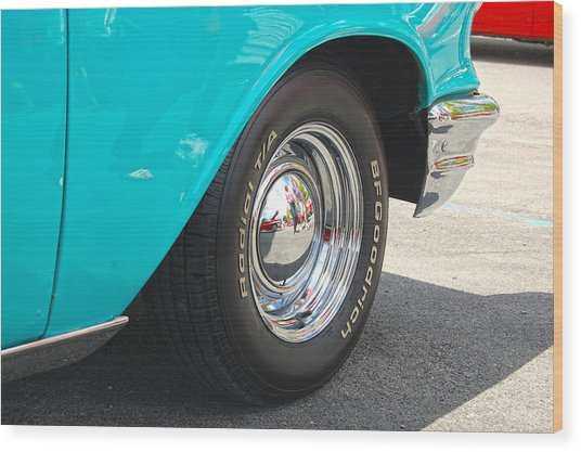 Chevy Reflection Wood Print