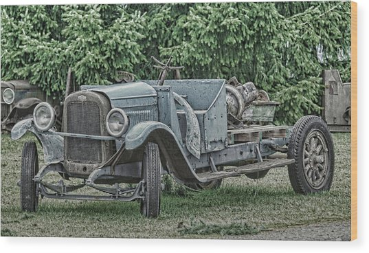 Chevy Truck By Ron Roberts Wood Print