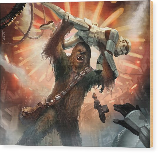 Chewbacca - Star Wars The Card Game Wood Print