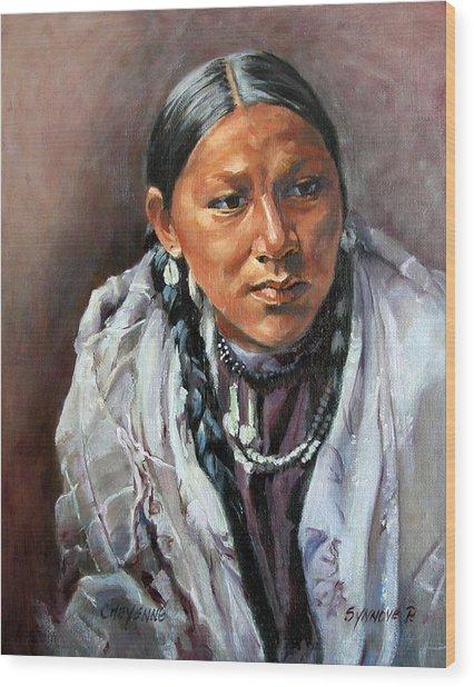 Cheyenne Woman Wood Print