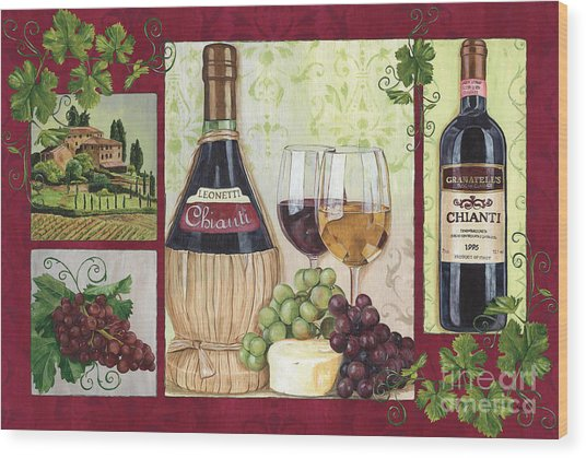 Chianti And Friends 2 Wood Print