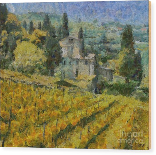 Chianti Vineyard Wood Print