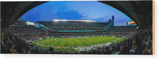 Chicago Bears At Soldier Field Wood Print