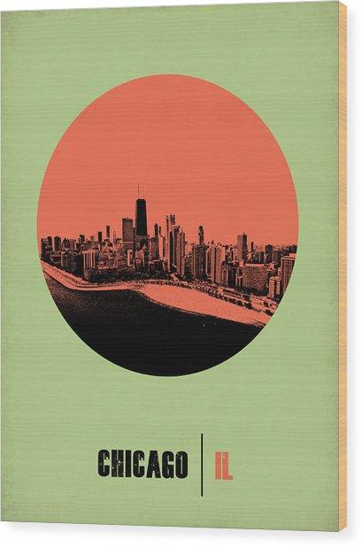Chicago Circle Poster 1 Wood Print