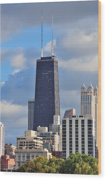 Chicago Hancock Building Wood Print
