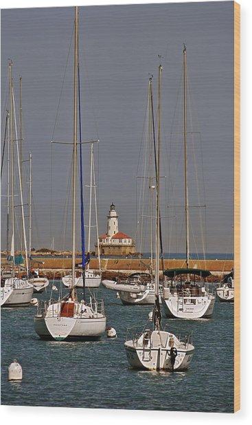 Chicago Harbor Lighthouse Illinois Wood Print