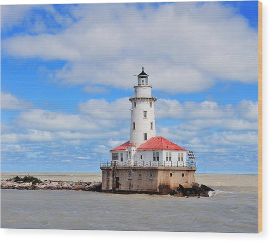 Chicago Light House Wood Print