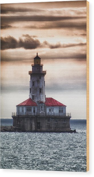 Chicago Lighthouse 3 Wood Print by Christopher Muto