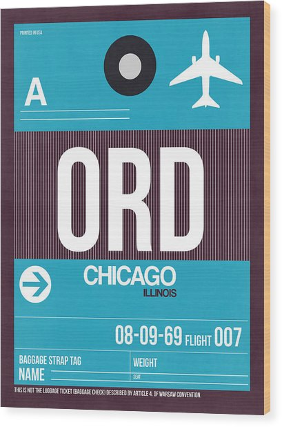 Chicago Luggage Poster 1 Wood Print