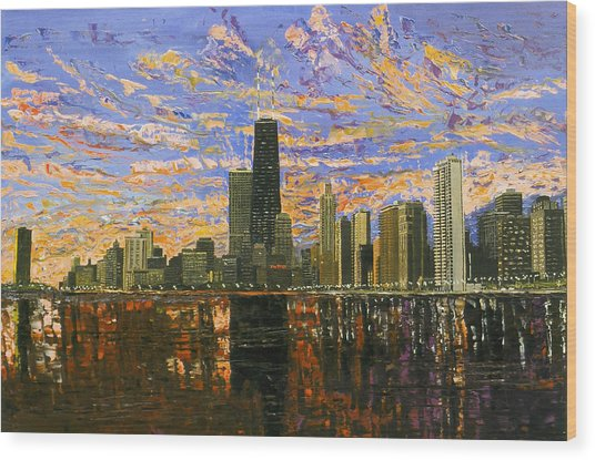 Chicago Wood Print