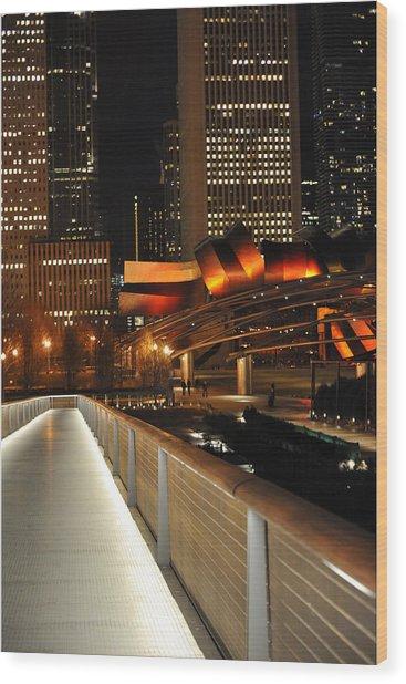 Chicago Millenium Park Wood Print