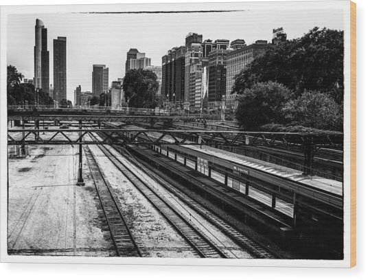 Chicago Rail Wood Print