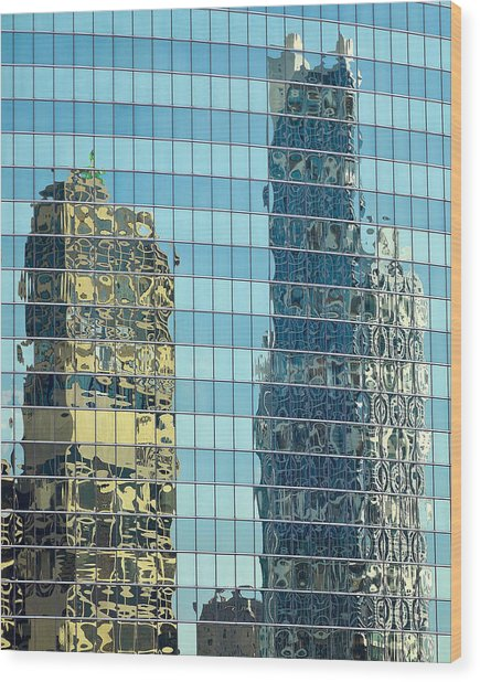 Chicago Reflections Wood Print