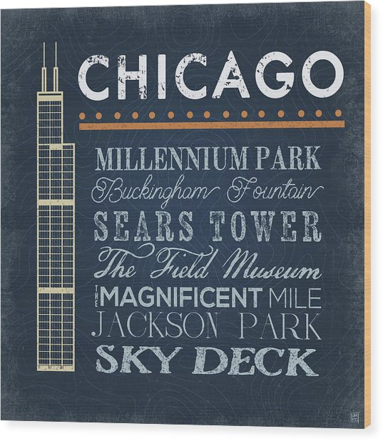 Chicago - Sears Tower Wood Print