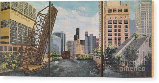 Chicago Skyline Triptych Wood Print