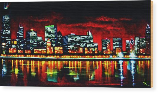 Chicago  Sold Wood Print