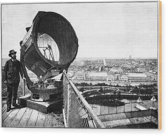 Chicago World Fair Searchlight, 1893 Wood Print by Science Photo Library