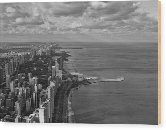 Chicago's Lake Front Wood Print
