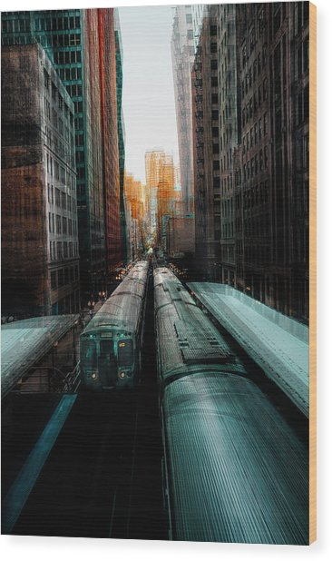 Chicago's Station Wood Print