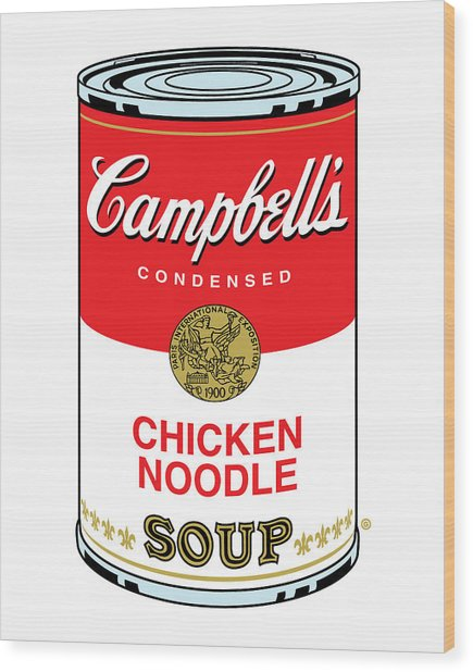 Chicken Noodle Soup Wood Print