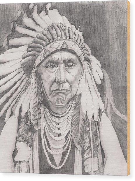 Chief Joseph Wood Print by Beverly Marshall