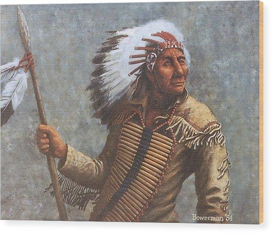 Chief Knife Wood Print by Lee Bowerman