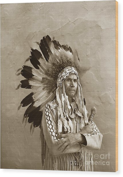 Chief Red Eagle Carmel California Circa 1940 Wood Print