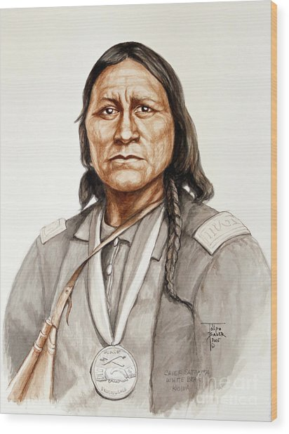 Chief Satanta Wood Print