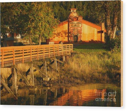 Chief Shakes House Wood Print