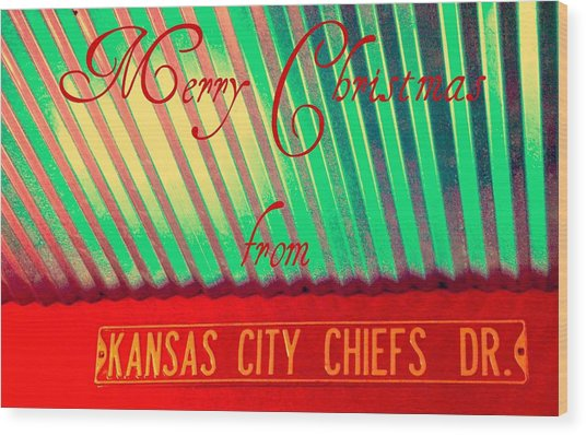 Chiefs Christmas Wood Print