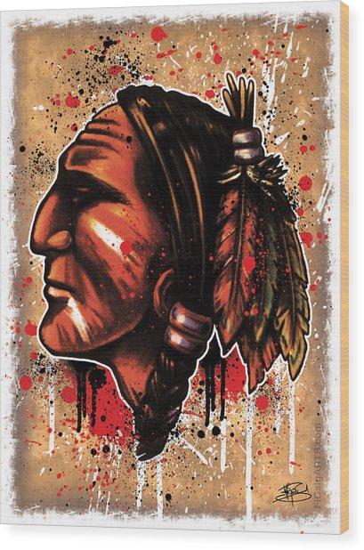 Chihawk Wood Print by Michael Figueroa